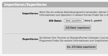 Kalender Export Screenshot